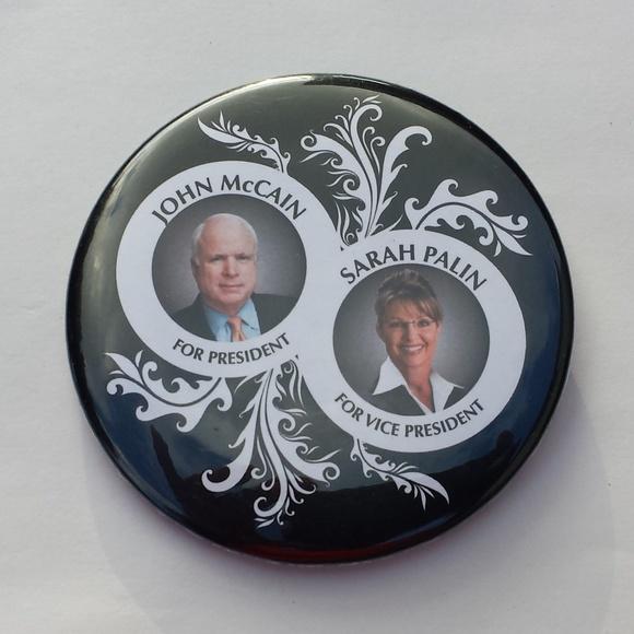 GOPtrunk.com Accessories - 2008 Campaign Pin John McCain & Sarah Palin